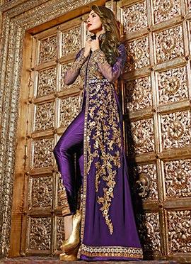 Malaika Arora Violet Straight Pant Suit