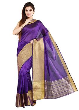 Violet Mysore Art Silk Saree