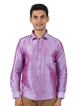 Violet Pure Dupion Silk Shirt