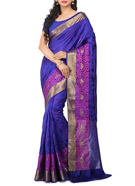 Violet Pure Silk Saree