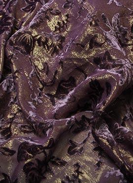 Violet Shimmer Georgette Fabric