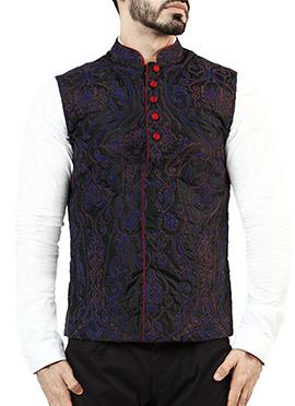Vivek Karunakaran Embroidered Nehru Jacket