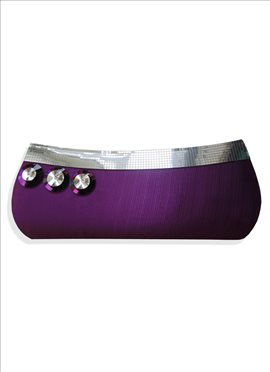 Voguish Purple Leather Clutch