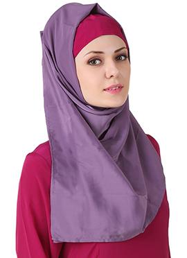 Wabisa Crepe Purple Hijab