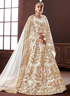 415898f5415 Buy White Lehenga Choli | White Colour Wedding Bridal Lehenga | Off ...