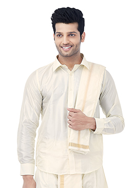 White Art Silk Shirt