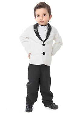 White Collar Blazer By Kidology