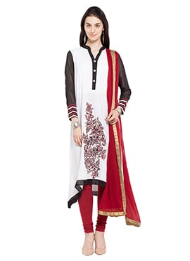White Cotton Anarkali Suit