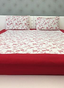 White Cotton Bed Sheet