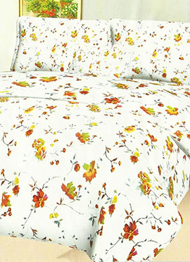 White Cotton Bed Sheet