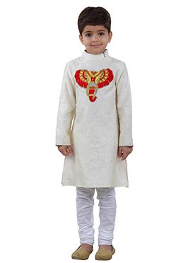 White Cotton Kids Kuta Pyjama