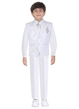 White Cotton Kids Suit