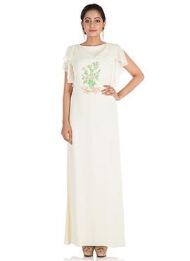 White Crepe Dress
