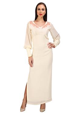 White Georgette Dress