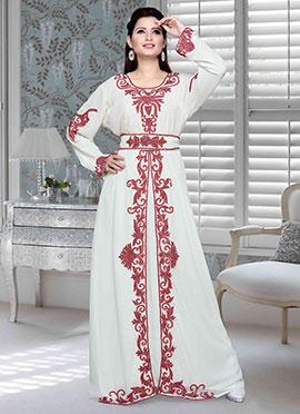 White Georgette Fustan