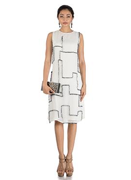 White Georgette Maxi Dress