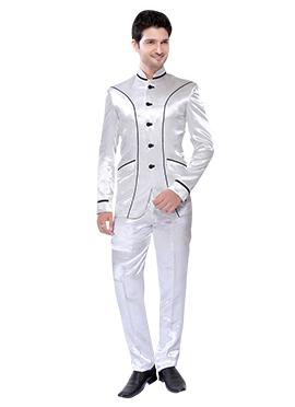 White Lapel Style Suit