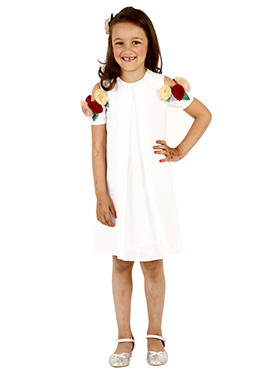 White Linen Kids Dress