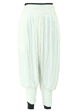 White Lycra Harem Pant