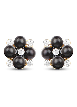 White N Black Stud Earring