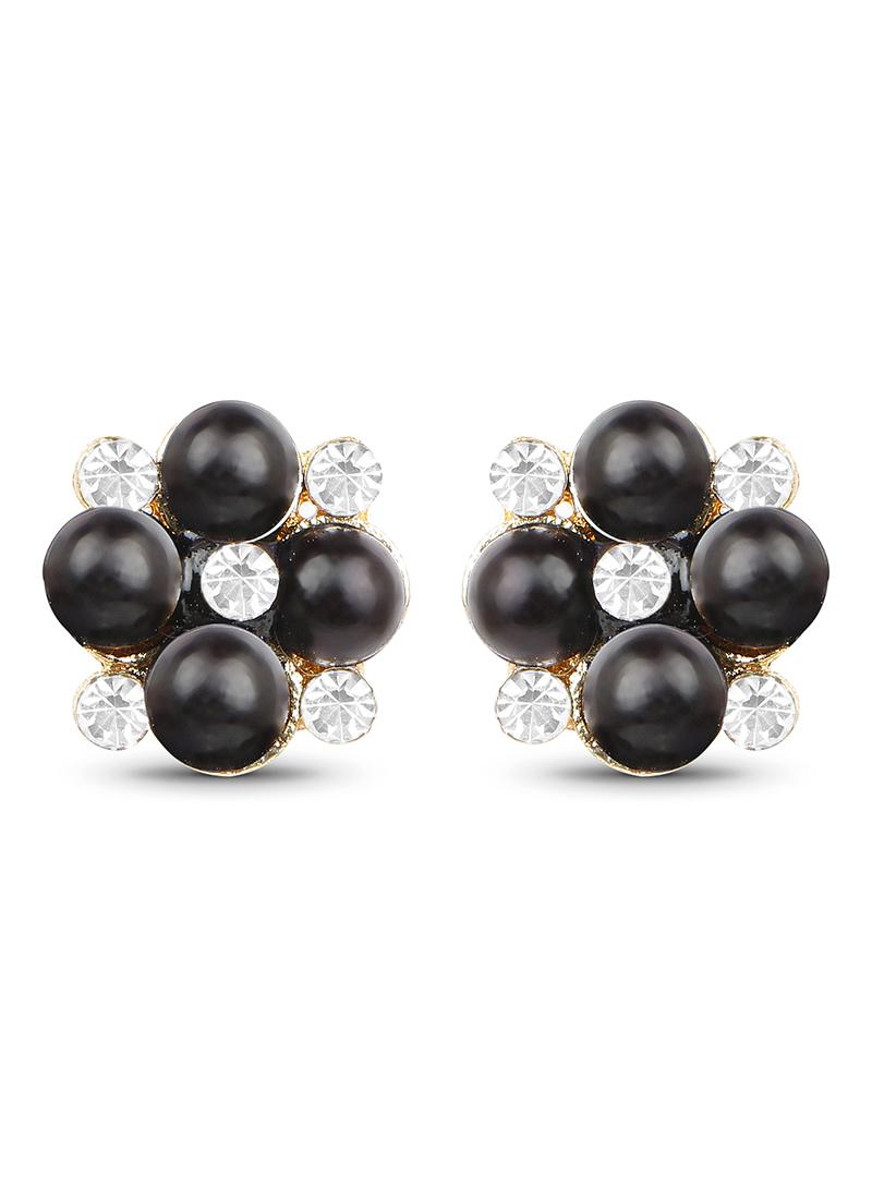 Buy White N Black Stud Earring, Studs Online Shopping, Erjjzdure003-2828