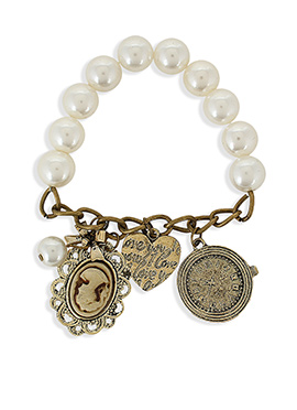 White N Golden Colored Bracelet