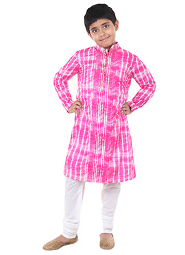 Chiquitita Pink Kids Kurta Pyjama Set