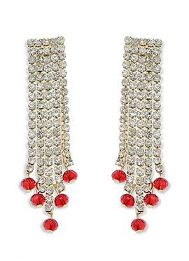 White N Red American Diamonds Chandelier