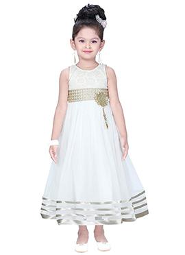 White Net Anarkali Gown