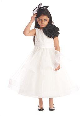 White Net Kids Dress
