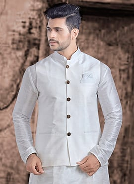 White Plain Nehru Jacket