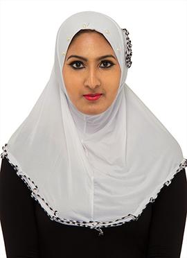 White Poly Cotton Hijab