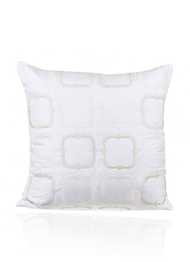 White PolySilk Cushion Cover