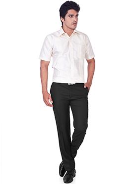 White Pure Silk Classic Shirt
