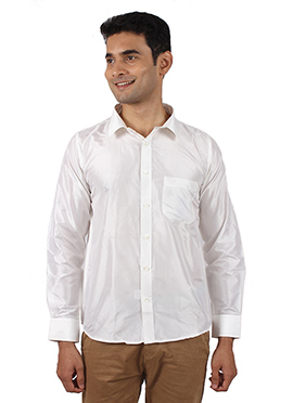 White Pure Silk Shirt