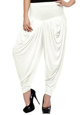 White Rayon Dhoti Pant