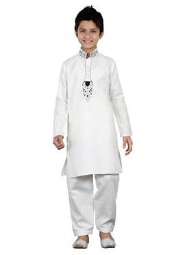 White Teens Kurta Pyjama