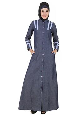 Widad Bluish Grey Denim Jilbab