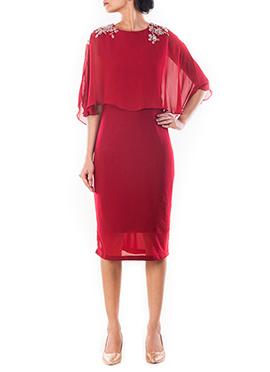 Wine Cape Dress