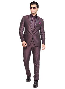 Wine Lapel Style Suit