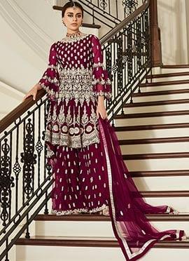 Wine Net Palazzo Suit
