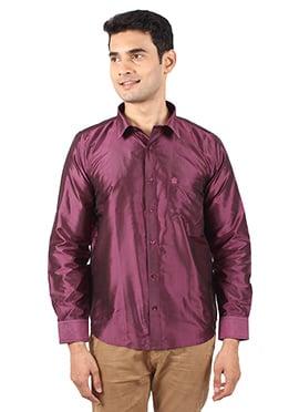 Wine Pure Silk Shirt
