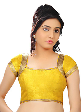 Yellow Art Dupion Silk Blouse