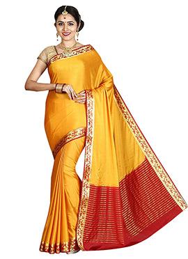 Yellow Art Mysore Silk Saree