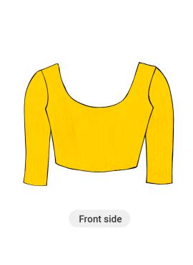 Yellow Art silk Blouse