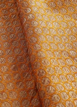 Yellow Art Silk Brocade Blouse