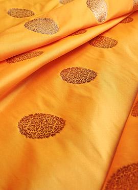 Yellow Art Silk Fabric