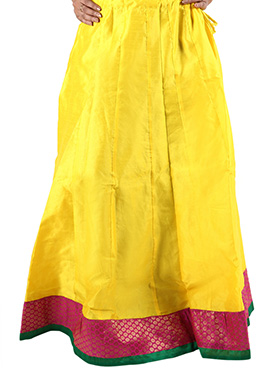 Yellow Art Silk Skirt