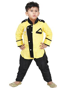 Yellow Breeches Style Kurta Pyjama