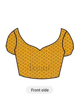 Yellow Brocade Blouse